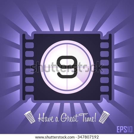 Cinema Film Tape Design. Vector Elements. Creative Isolated Movie Illustration. EPS10 - stock vector