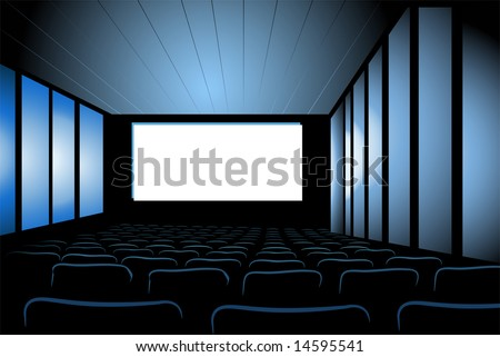 cinema interior vector - stock vector