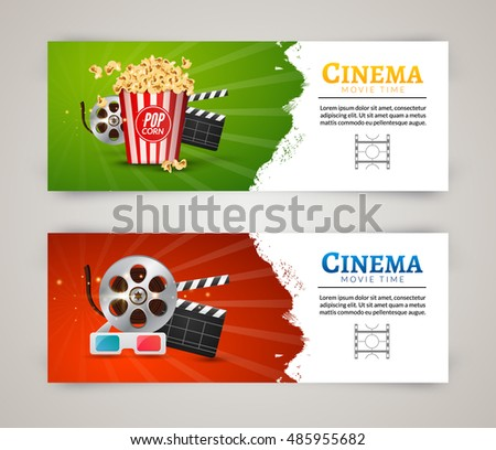 Business brochure report design template vector stock for Movie brochure template