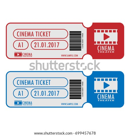 Cinema Movie Ticket Template Simple Design Stock Vector Hd Royalty