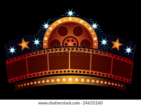 Cinema neon - stock vector