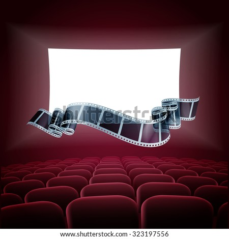 cinema presentation - stock vector