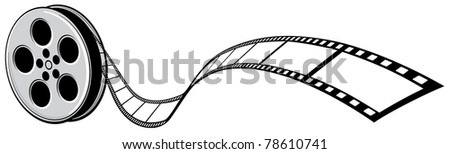 cinema projector and film strip - stock vector