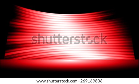 cinema screen for movie presentation.Dark red Light Abstract Technology background for computer graphic website internet and business. black background.