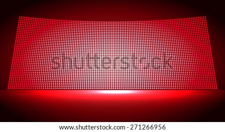 cinema screen for movie presentation. Light Abstract Technology background for computer graphic website internet and business. dark red background. Pixel, mosaic, table. point, spot, dot - stock vector