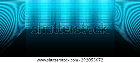 cinema screen for movie presentation. Light Abstract Technology background for computer graphic website internet and business. dark blue background. Pixel, mosaic, table. point, spot, dot - stock vector