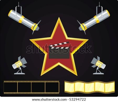 cinema stile industry - stock vector