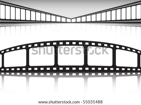 Cinema style backgrounds - stock vector