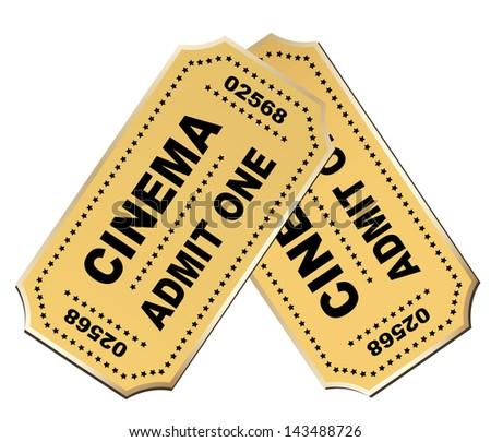 Cinema ticket - stock vector