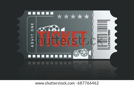 Cinema Ticket Sample Template Design Trendy Stock Vector 691267375