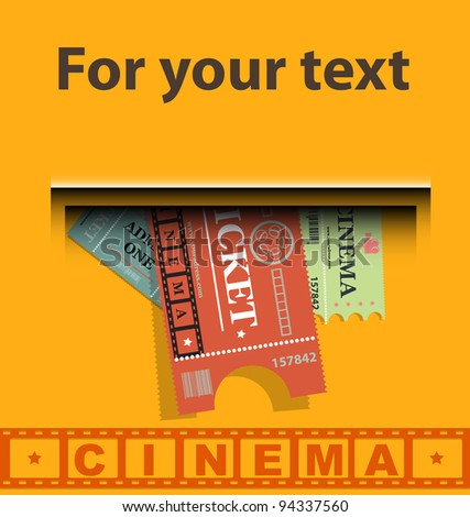 Cinema tickets background vector - stock vector