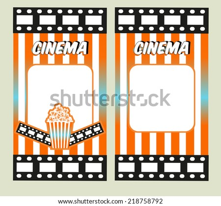 Retro Cinema Poster Vector Movie Ad Vector 145112746 – Theater Ticket Template
