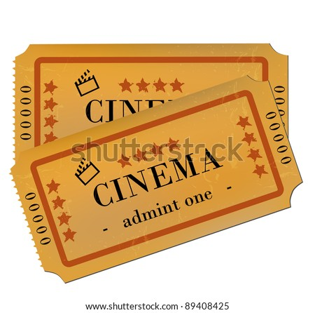Cinema Tickets Isolated on White - stock vector