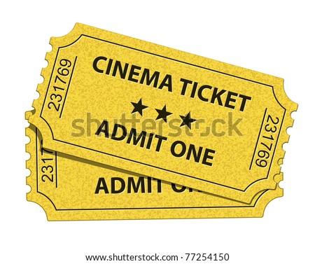 Cinema tickets. Vector illustration - stock vector