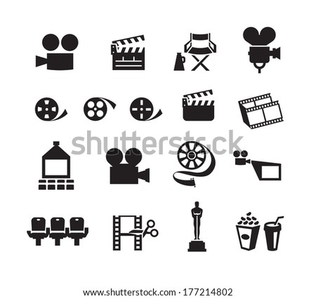 Cinema. Vector format - stock vector