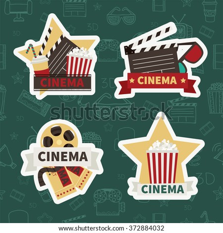 Cinema. Vector set.  Variants of cinema design - stock vector