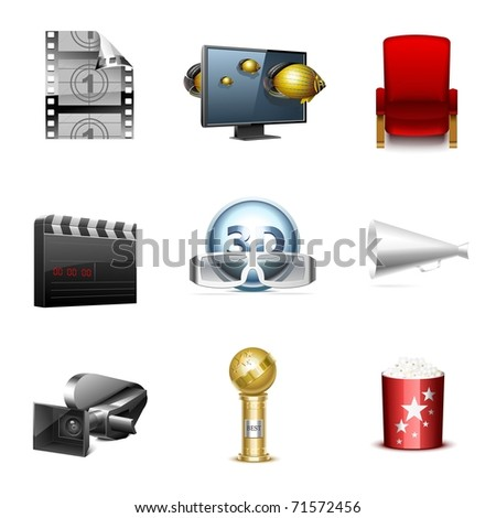 cinematography vector icon set - stock vector