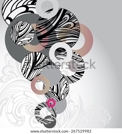 circle abstract background - stock vector