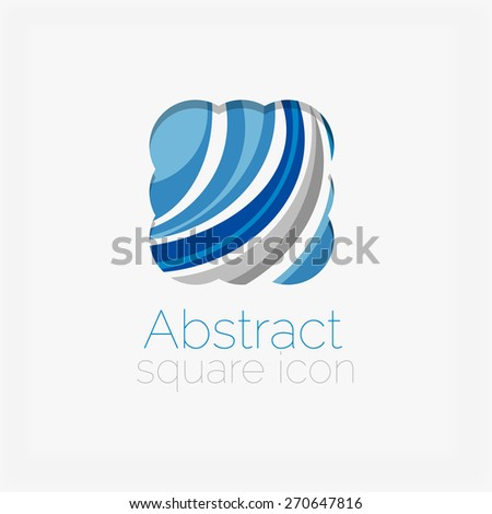 Circle abstract shape logo. Vector illustration - stock vector