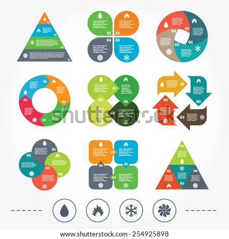 Circle Triangle Diagram Charts HVAC Icons Stock-Vektorgrafik ...