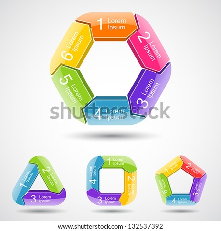 Circle arrows (template to your business presentation, big collection) - stock vector