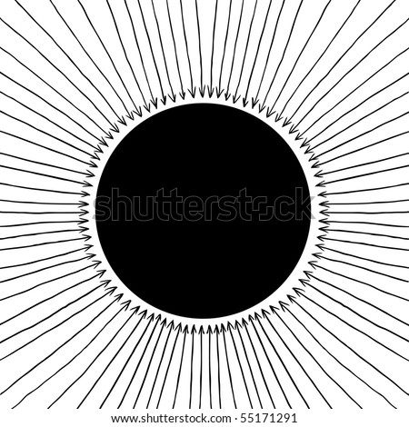 Circle background with arrows. Vector illustration. - stock vector