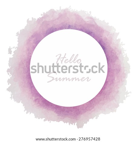 Circle Banners Vector Illustrationviolet Purple Light ColorVintage Logo