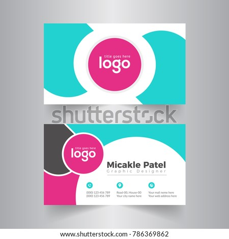 Circle business card vector design stock vector 2018 786369862 circle business card vector design colourmoves