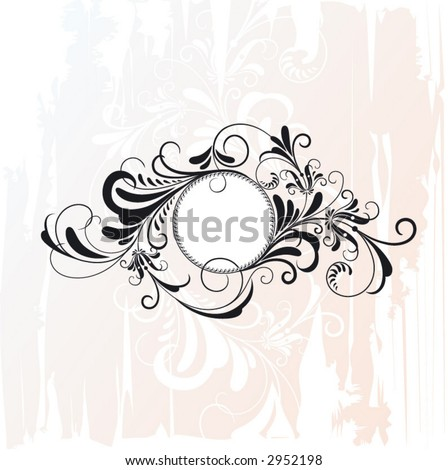 circle decorative flourishes ornament - stock vector