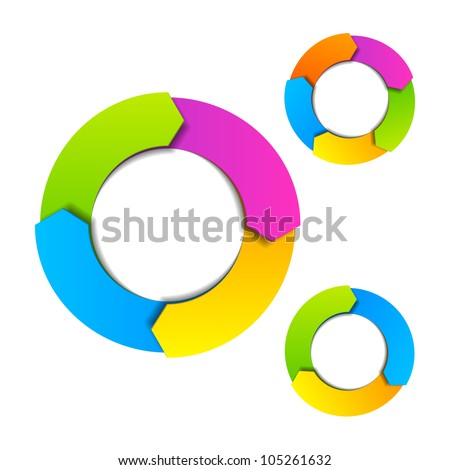 Circle diagram. Vector. - stock vector