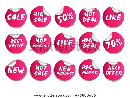 Circle discount tags & labels
