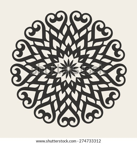 Circle geometric ornament. Vector Mandalas For Your Design - stock vector