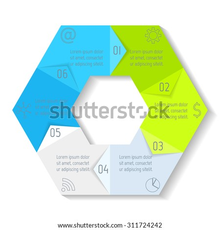 Circle Infographic Design Template  Angles Stock Vector
