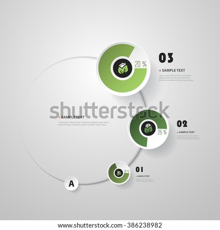 Circle Infographic Design with Pie Chart - Eco - stock vector