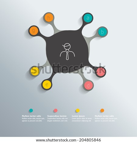 Circle infographic template. Vector. - stock vector