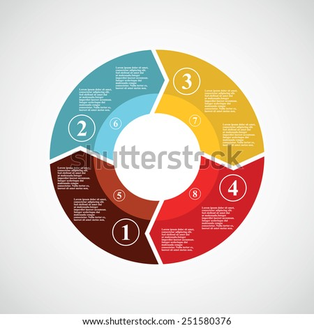 circle infographics.vector illustration. - stock vector
