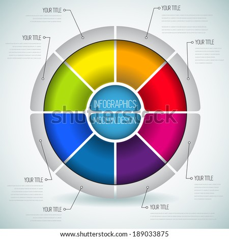 Circle line infographics design template diagram stock vector circle line infographics design template with diagram set idea to display information steps for ccuart Image collections