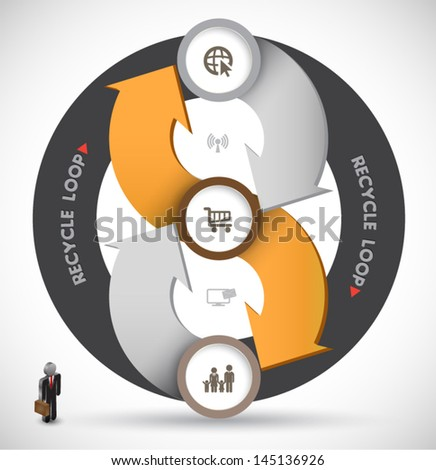 Circle loop. can use for business concept, brochure object, poster element. - stock vector
