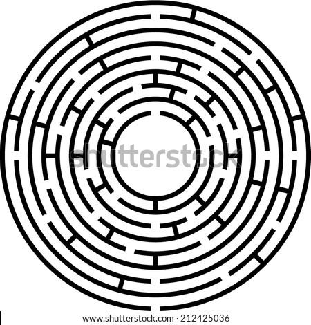 circle maze (vector) - stock vector