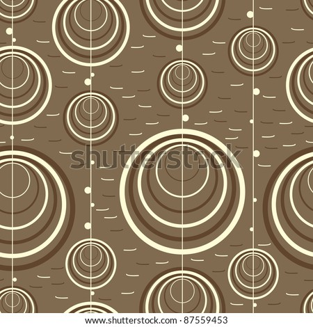 Circle on brown background - seamless pattern - stock vector