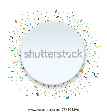 Yellow Falling Paper Confetti Holiday Background Stock Vector ...