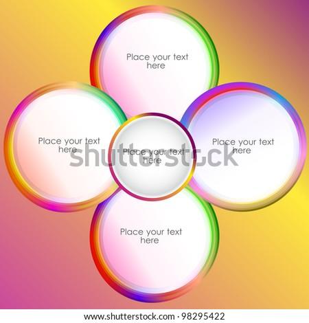 circle presentation, vector illustration - stock vector