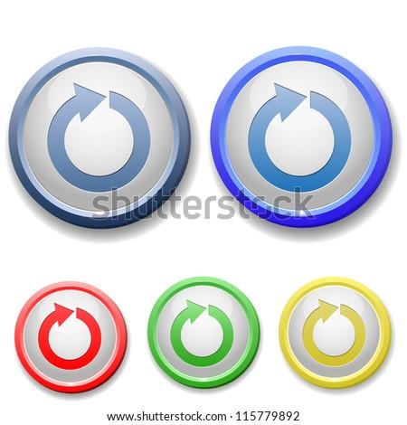 circle refresh icon - stock vector