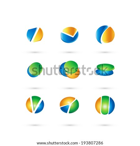 Circle set  web icons design ,vector