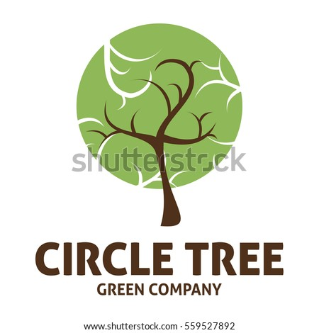 Tree Logo Circle Shape Design Vector Stock Vector ...