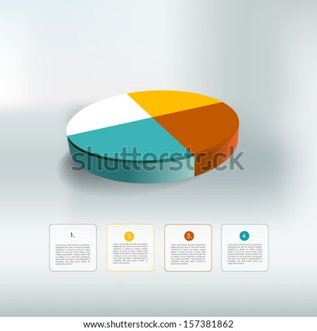 Circle web diagram template for infographics. Vector scheme.