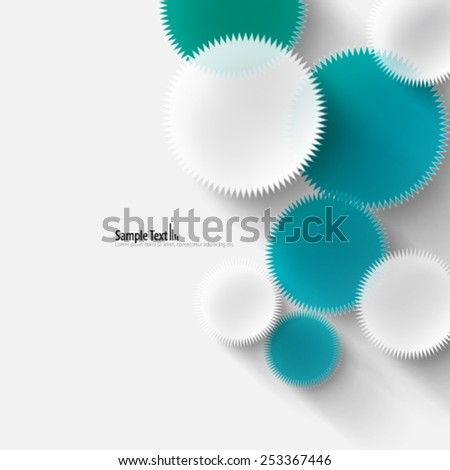 Circle with Spokes Design Background - stock vector