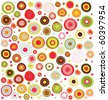 circles  colorful pattern - stock photo