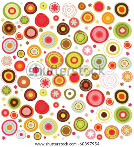 circles  colorful pattern - stock vector