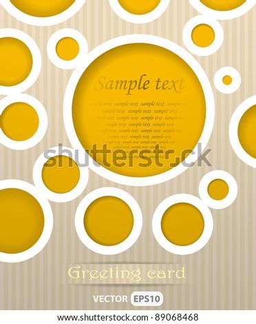 Circles postcard vector illustration - stock vector